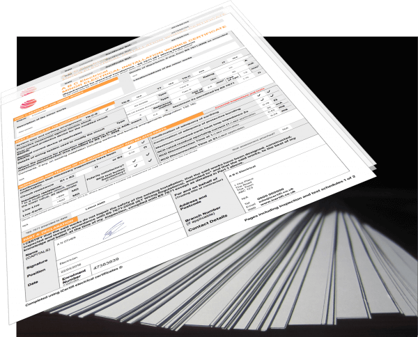 Electrical certificates stack
