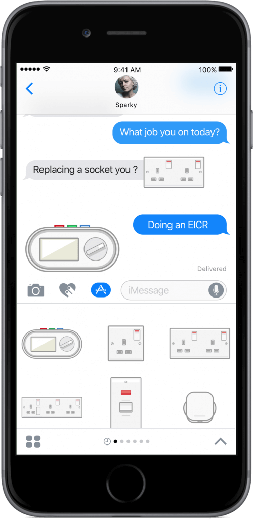 iMessage Electricians Sticker Pack