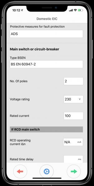 Main switch or circuit breaker
