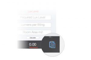 Copy Lux level test results Fast Calc