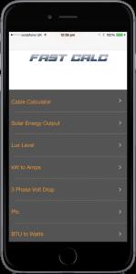 Electricians calculators on iPhone