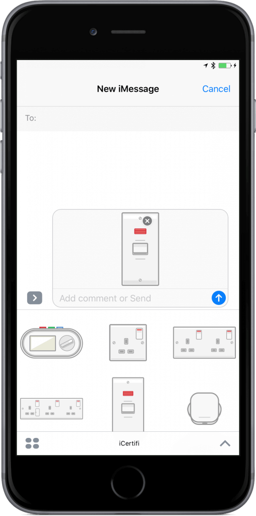 electrical stickers iMessage