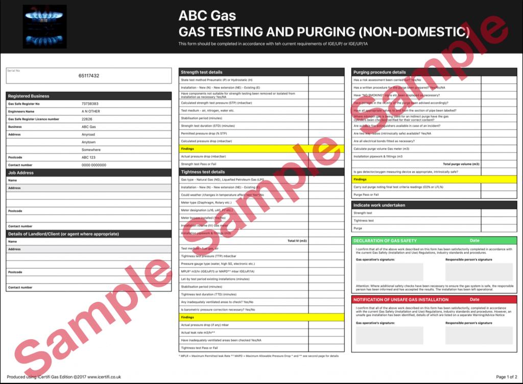 Gas Certificate iCertifi Gas Edition
