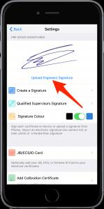 iCertifi Signature Settings