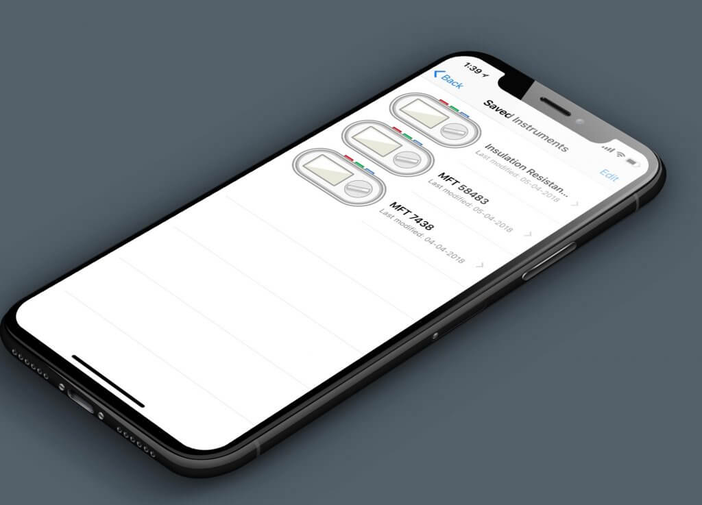 electrical test instruments on iphone x