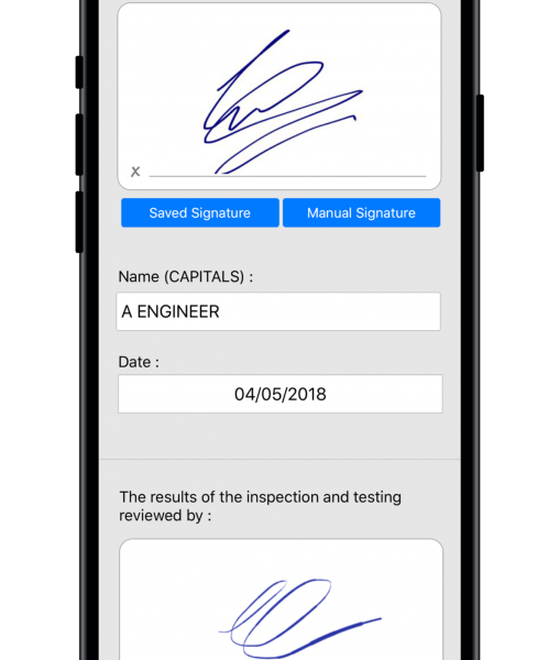 Minor Works Electrical Certificate Signatures
