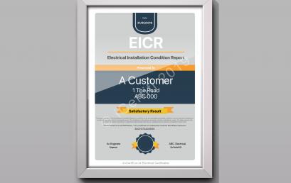 EICR Presentation Certificate   iCertifi 10.9.7