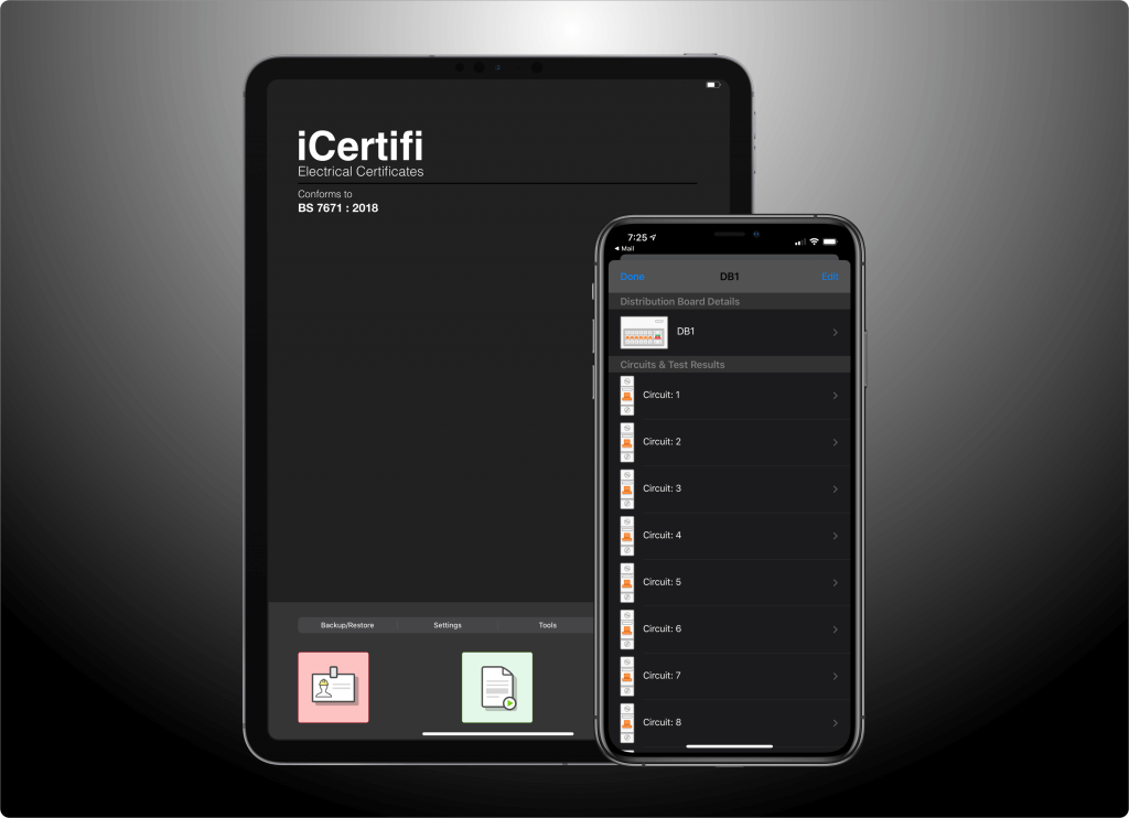 iCertifi Dark mode app iPhone and iPad