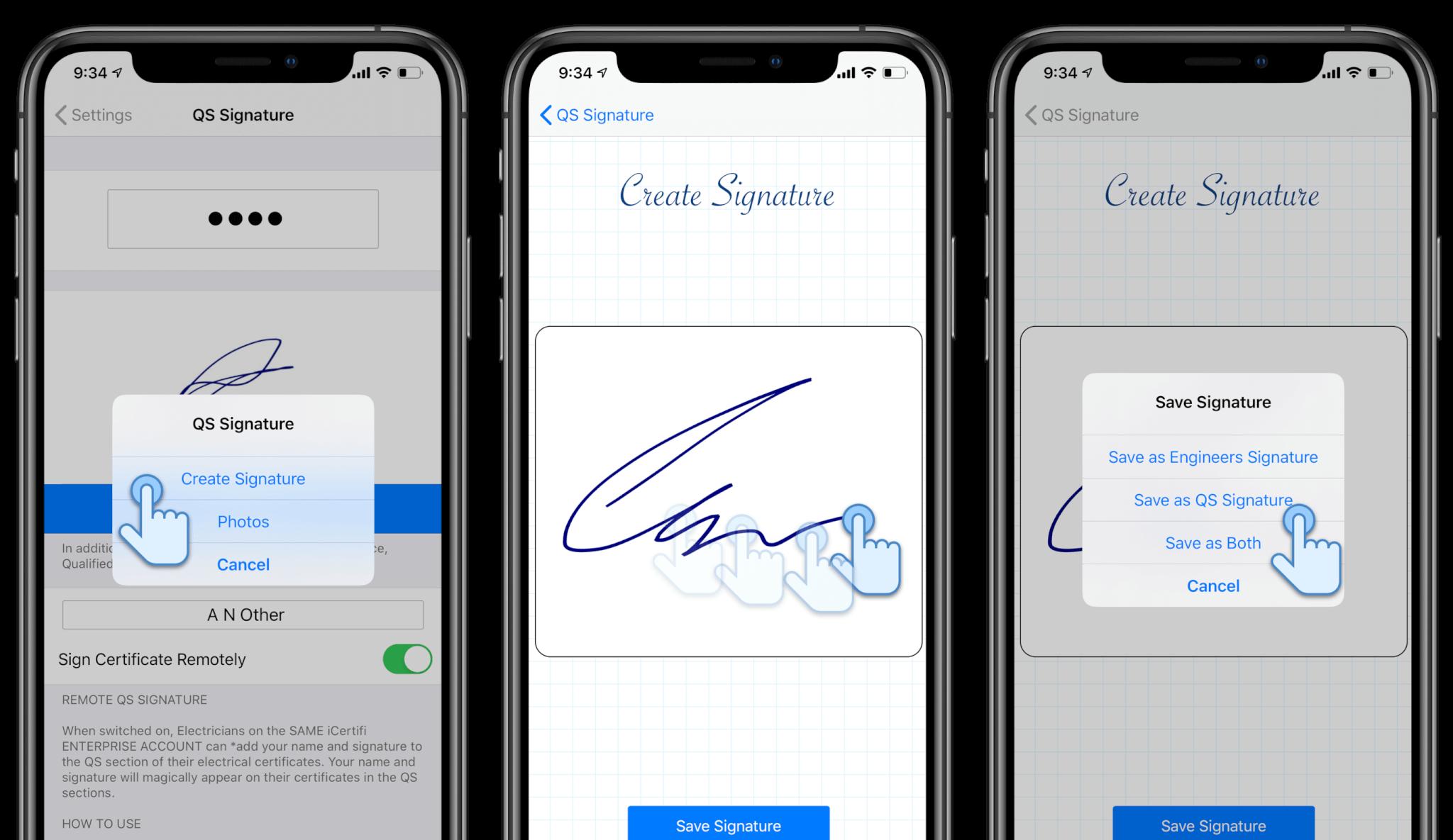 Qualified Supervisor Signature iphone