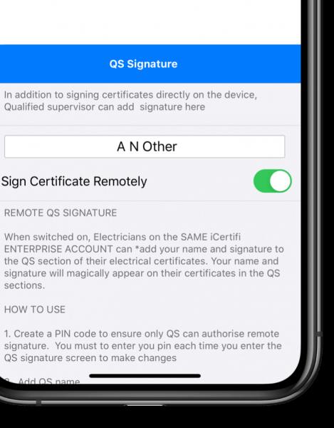 QS Signature iPhone